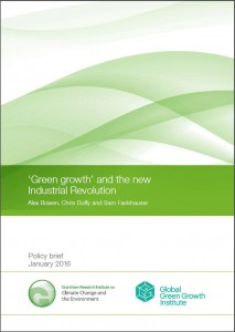 green growth and the new industrial revolution