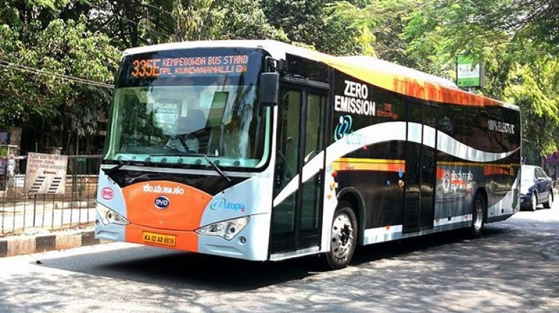 14. Electric bus in Bangalore