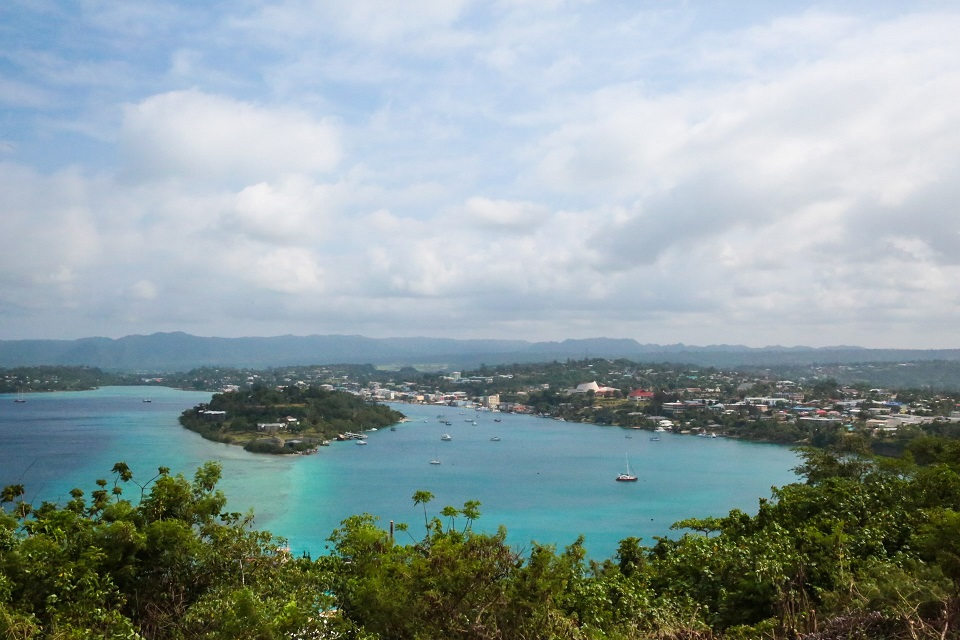 Vanuatu's capital, Port Vila, located on the island of Efate, is using solar power for tourism, commercial, and government activities. But, in rural areas, solar capacity is limited. Photo Credit: GGGI