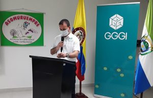 Governor of Guaviare giving his opening speech