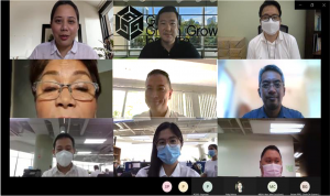 Virtual Meeting Group Photo with Bataan Governor Garcia and Team