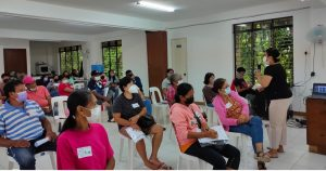 Group of training participants listening to a lecture.